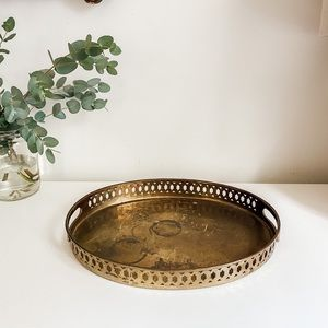 Beautiful vintage brass tray